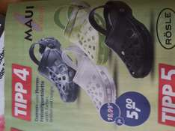 @ real,- Markt // Maui Sports Plastikpantoletten 75% billiger= 5,00€