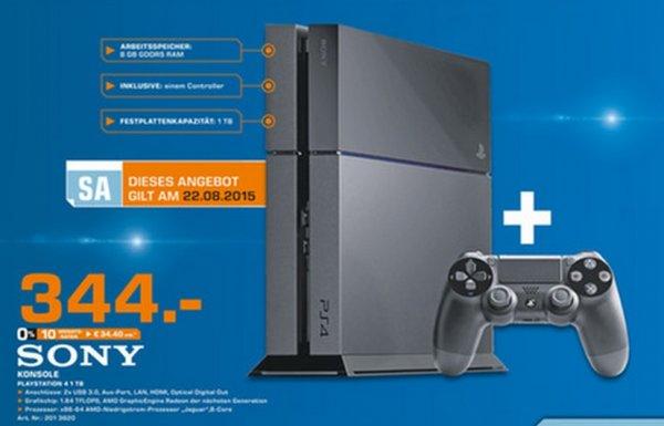[lokal Saturn Mannheim] nur heute 22.08. PS4 Ultimate Player Edition 1TB f. 344€