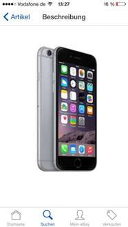 (O2 Business Kunden) iphone 6 64gb mit o2 xl 10gb Internet, allnet SMS Flat lte für effektiv 33,32€ mtl