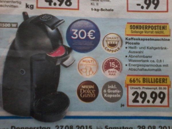 Krups Piccolo Kaffekapselmaschine im Kaufland für 29,99€ + Online-Gutschrift (30€)