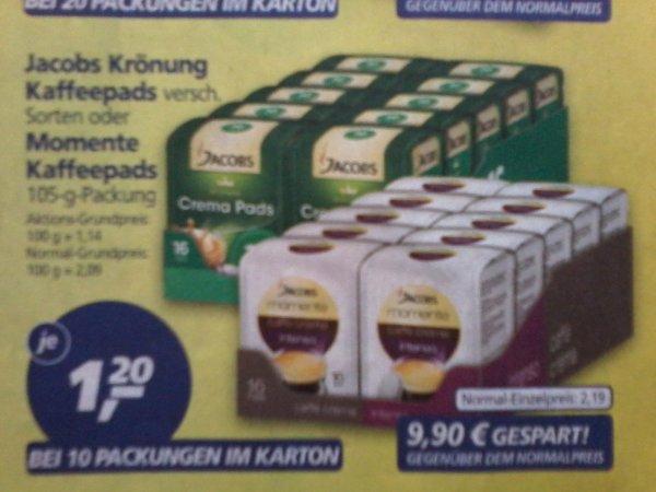 Jacobs Kaffepads 16er  bei REAL für 1,20€