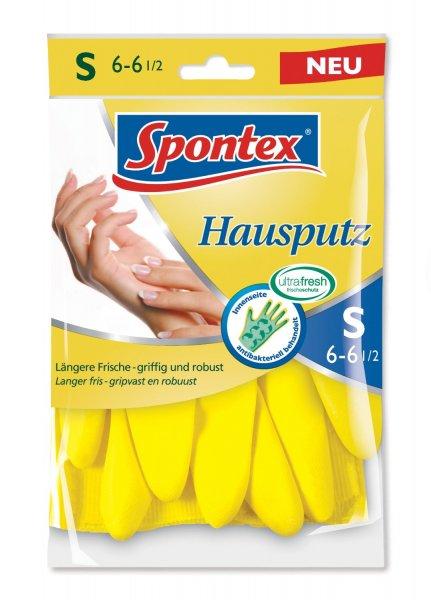 [Amazon-Prime-Plusprodukt]Spontex 12110026 Handschuh Hausputz Größe 6-6.5. geeignet für alle Putz- und Pflegearbeiten rund um den Haushalt. 10 er Pack