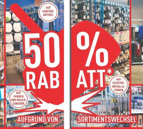 [Lokal Marktkauf Loddenheide Münster] 50% Rabatt auf das gesamte Baumarkt-Sortiment
