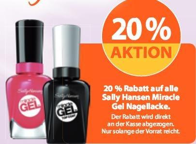 *MÜLLER KW35* 20% Rabatt auf alle Sally Hansen Miracle Gel Nagellacke