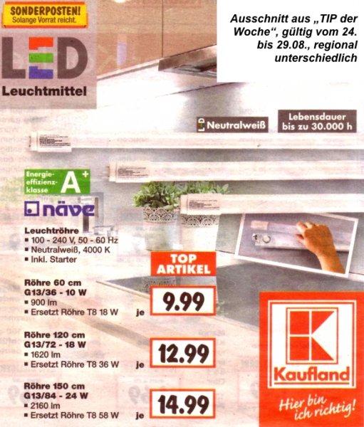 [Kaufland]: T8- LED -Röhren für KVG/VVG-Single-Leuchten ab 9,99 Euro