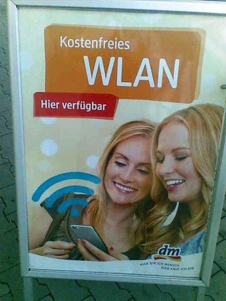 [ dm ] Free W-lan in vielen Filialen  bei dm
