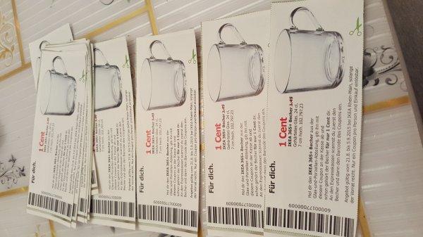LOKAL ? Hanau IKEA Tasse für 1 Cent durch Gutschein vom Post zusteller.