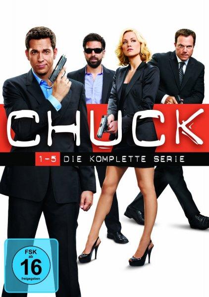 (Amazon.de) Chuck - Die komplette Serie (exklusiv bei Amazon) auf 23 DVDs für 37,97€ und Jurassic Park 1-3 - Dino-Skin Edition auf Blu-ray für 21,97€