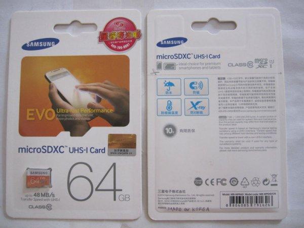 Samsung EVO MicroSD UHS-1 32GB für 10,70€ / microSDXC UHS1 64GB 19,98€