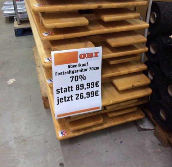 [Lokal] Festzeltgarnitur bei OBI in Frankfurt Sachsenhausen für 26,99€