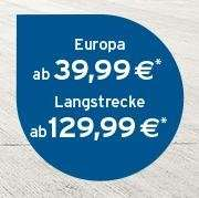 Germanwings: Europa ab 39,99, Langstrecke ab 129,99 (One-Way) inkl. Gepäck, Snack & Getränk über Tchibo Landingpage