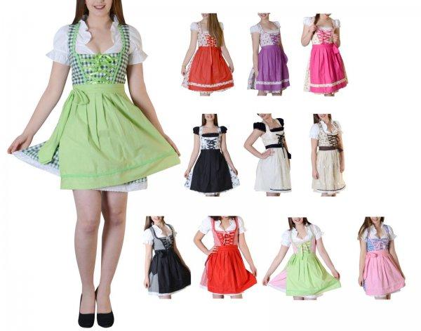 Dirndl Gr. 34-50 Trachtenkleid Tracht Kleid Oktoberfest Baumwolle Bluse Schürze, 29,- EUR @ ebay