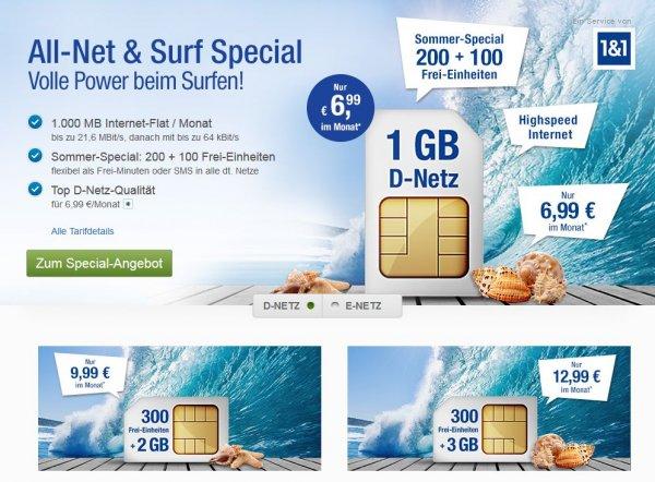All-Net & Surf Special für GMX Kunden