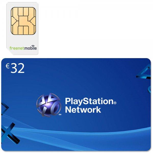 @ebay: FreenetMobile freeSMART DUO + 32 Euro PlayStation Network Code Card Guthaben PSN für 3,90€
