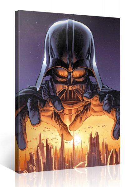 """@Amazon blitzangebote: Gallery of Innovative Art - 75x100cm Star Wars Leinwandbild """"Dark Hand of Vader"""" Kunstdrucke Aufgespannt auf Holzkeilrahmen"""