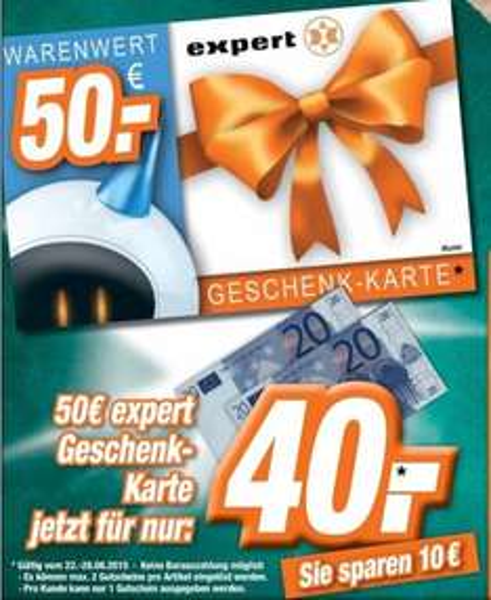 [Lokal Expert ESC in Cottbus und Senftenberg] 50€ Geschenk-Karte für 40,-€