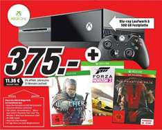 [Mediamarkt Bundesweit] XBoxOne 500GB + The Witcher 3 (DL Code) + Metal Gear Solid 5: The Phantom Pain+Forza Horizon 2 für 375,-€