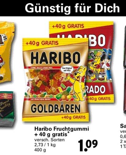[ Netto mit Hund KW35 ] Haribo div. Sorten für  Kg Preis von 2.73€