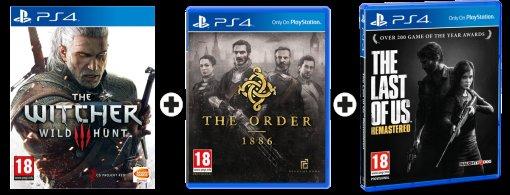 [MediaMarkt Schweiz] Last of Us Remastered, Witcher 3 & The Order 1886 für 99,95CHF (ca. 92 Euro) - PS4 - Lieferung nur an CH/FL Adresse