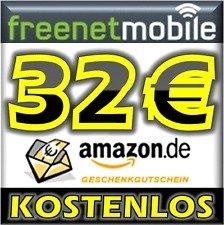 32 EUR Amazon Gutschein für 3,90 EUR durch 2 FreenetMobile SIM-Karten
