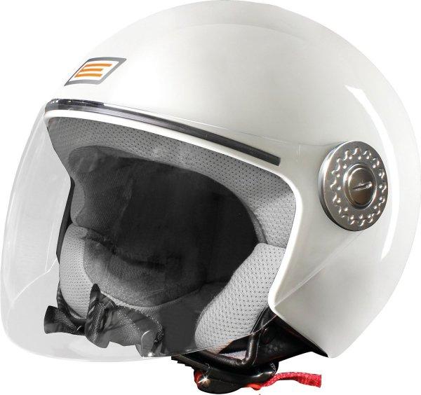 [Amazon-Prime] Origine helmets Jethelme Ecco Glänzend Weiß / Silber/ Schwarz  in jeder Größe