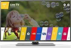 LG 55LF652V 139 cm (55 Zoll) 3D LED TV, Full HD, Triple Tuner, WLAN, Web OS, USB-Recording, Metallic Design