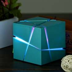 Creative Rubik's Cube Style, Bluetooth Lautsprecher, multi-color LED-Beleuchtung, Radio = allbuy