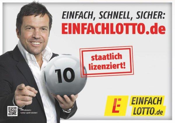 5,20€ Startguthaben auf EINFACHLOTTO - nur Neukunden - gratis Lotto spielen