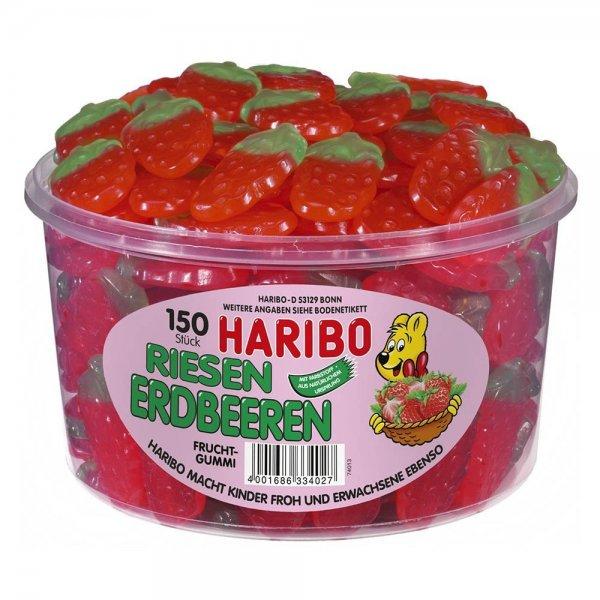 @Amazon Preisfehler?: Haribo Riesenerdbeeren, saure Pommes und saure Cola-Ringe ,3er Pack (3x 1350 g) für 8,50 € / nächster Preis 17,46 €