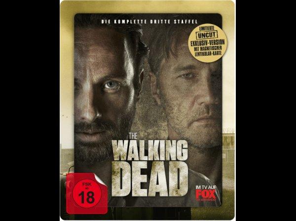 [Saturn] The Walking Dead - Staffel 3 (exkl. Steelbook + uncut + mit magnetischer 3D Lentikularkarte + Bluray) für 18,99€ versandkostenfrei