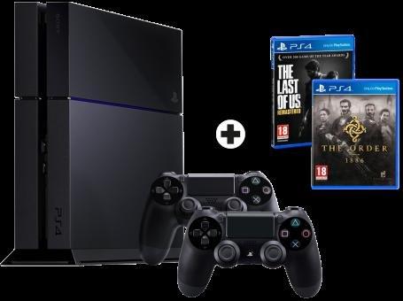 Sony PlayStation 4 + 2 Controller + Last of Us + The Order: 1886 für 317 €  (nur online Bestellung Schweiz)