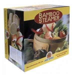 Bambusdämpfer (Dampfgarer) 3-Teilig 25 cm Bamboo Steamer Set