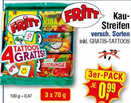 [CENTERSHOP RP/NRW] KW36: 3er Pack Fritt Kaustreifen versch. Sorten für 0,99€