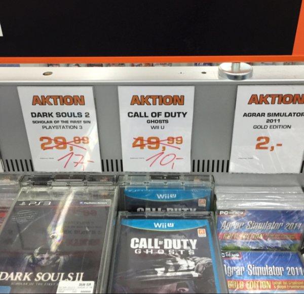 Call of Duty Ghosts Saturn HH Altstadt 10€ statt 15,74€ Vergleichspreis