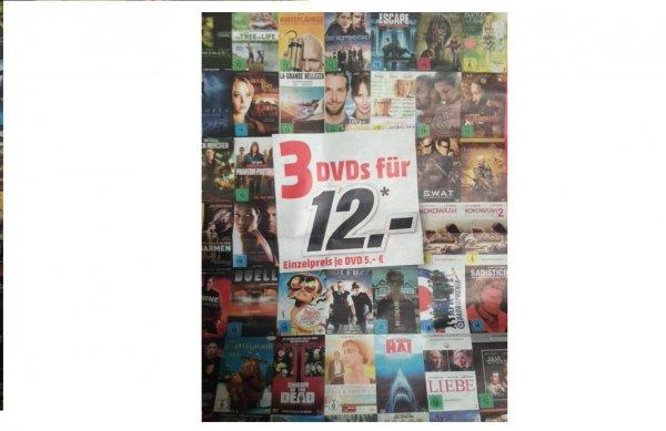 3 DVDs für 12 Euro im Media Markt