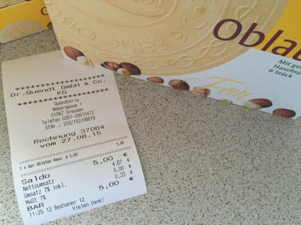 [Dresden] Dr. Quendt Oblaten 6 Packungen 5€