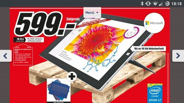 [lokal Bischofsheim] Surface 3 incl. Type Cover @MediaMarkt 599,- €