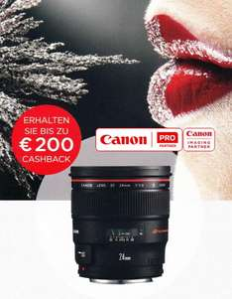 Canon Lens Cashback 28.08. - 26.10.2015 - bis 200€ möglich