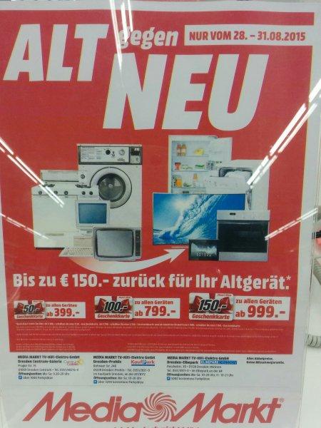 [lokal Dresden ] Media Markt alt gegen neu Aktion