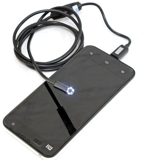 [Banggood] Android Smartphone Endoskop Kamera, 1m o. 3,5m nach IP66, 6 LED, 7mm Linse, inkl. App-Link