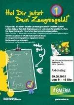 [Galeria Kaufhof Osnabrück] Zeugnisgeld: Pro Eins ein Euro als Gutscheinkarte