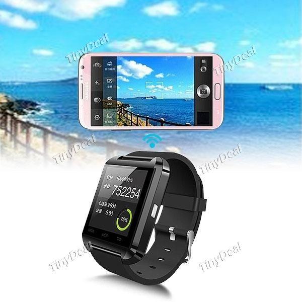 Uwatch U8 Bluetooth 4.0 Smartwatch mit Android & iOS App schwarz / weiß @Tinydeal