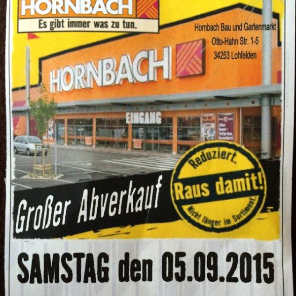 Hornbach Raus damit Abverkauf in Lohfelden bei Kassel