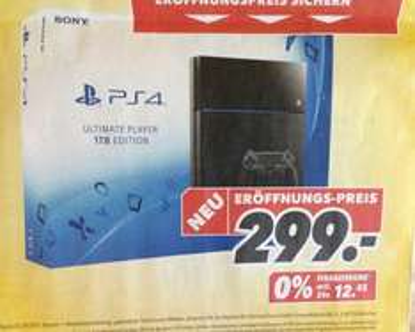 (Medimax Neueröffnung DD) PS4 Ultimate Player 1TB Edition
