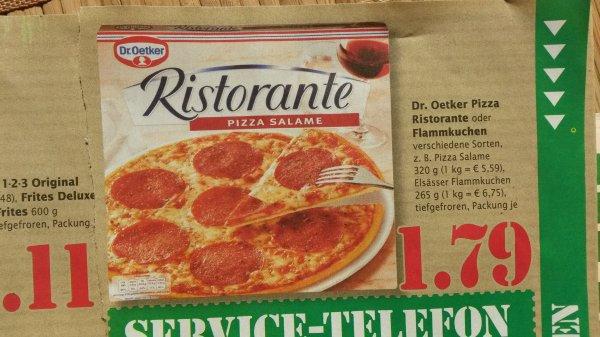 [Marktkauf] Dr. Oetker Pizza od. Flammkuchen (versch. Sorten) {-28%}