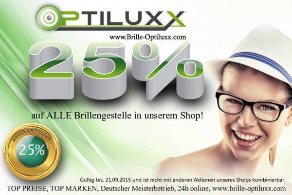 25% Rabatt auf alle Brillen diverser Marken