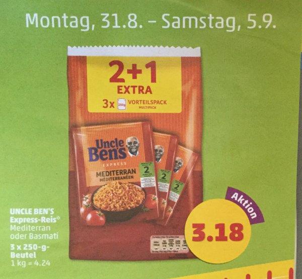 [Penny Bundesweit KW36] Uncle Bens Express Reis 3Stk Vorteilspack