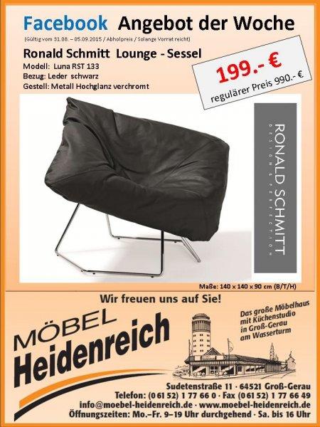 Wieder da... (Lokal Gross-Gerau) Ronald Schmitt Lounge-Sessel LUNA - RST 133 Leder 199€