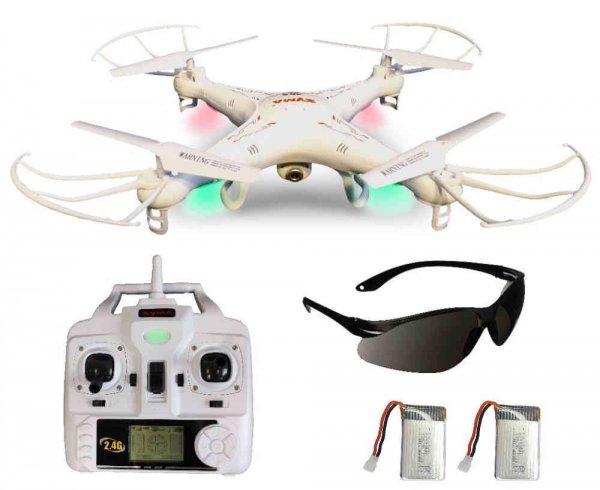 3D Quadrocopter / Drohne Syma X5C Weiße Sonder-Edition HD Kamera mit Tonaufzeichnung und Zusatz-Akku, Versand kostenfrei aus Deutschland