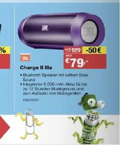 "[STAPLES Filialen] JBL Charge II Bluetooth Lautsprecher ""lila"" für 79€"